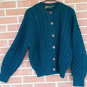 VTG COUNTRY knitwear 100% wool cardigan,  sz M